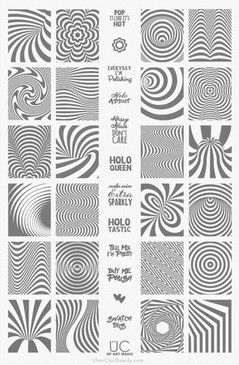 Uber Chic Nail Stamping Plates Op Art Magic. Available at www.lanternandwren.com.