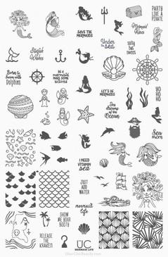 Mermaid Life - UberChic Nail Stamping Plate (PREORDER)