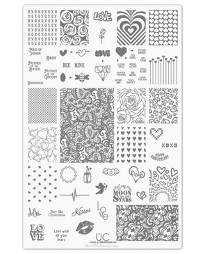 Uber Chic Love and Marriage 03 nail stamping plate. Available at www.lanterandwren.com.