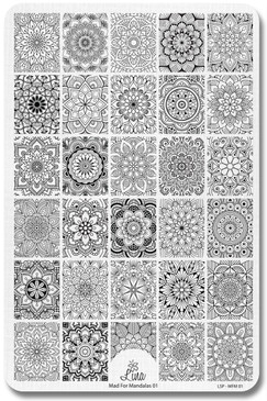 Mad for Mandalas 01 - Lina Stamping Plate for Nail Stamping and Nail Art Design