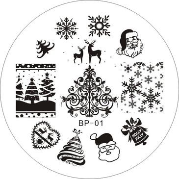 Born Pretty BP01  - Christmas Nail Stamping Plate