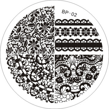 Born Pretty BP02 - Lace Designs Nail Art Stamping Plate