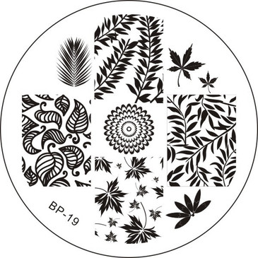 Born Pretty BP19 - Leaves Nail Art Stamping Plate - Repeating Leaf Patterns for Nail Art Design