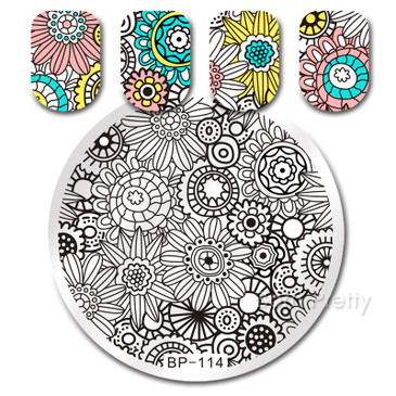 Born Pretty BP114 Stamping Plate - Flowers Nail Stamping Plate