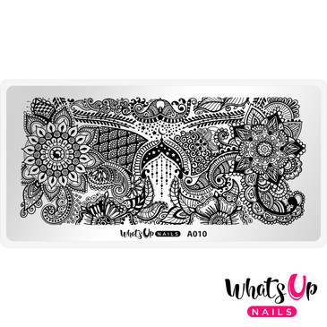 Whats Up Nails - A010 Henna Entrancement - Mini Nail Stamping Plate
