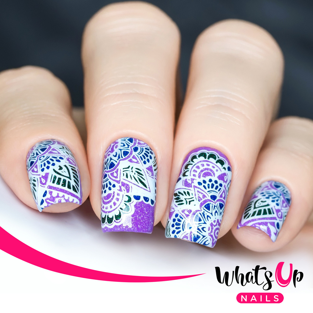 Whats Up Nails - A010 Henna Entrancement - Mini Nail Stamping Plate ...