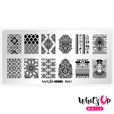 Whats Up Nails - B001 Middle Eastern Vibes - Mini Nail Stamping Plate