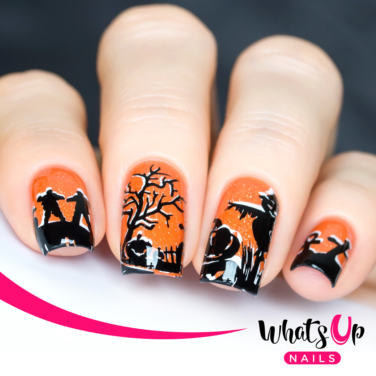 Whats Up Nails - A012 Happy Halloween - Mini Nail Stamping Plate ...