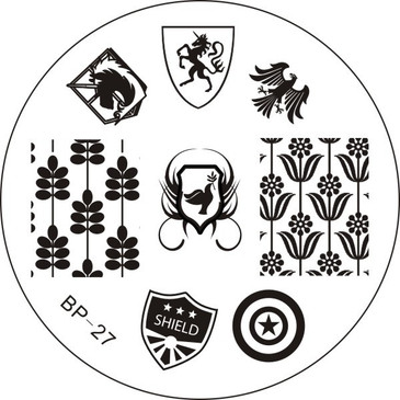 Born Pretty BP27 Stamping Plate - Pinwheels Stamping Plate