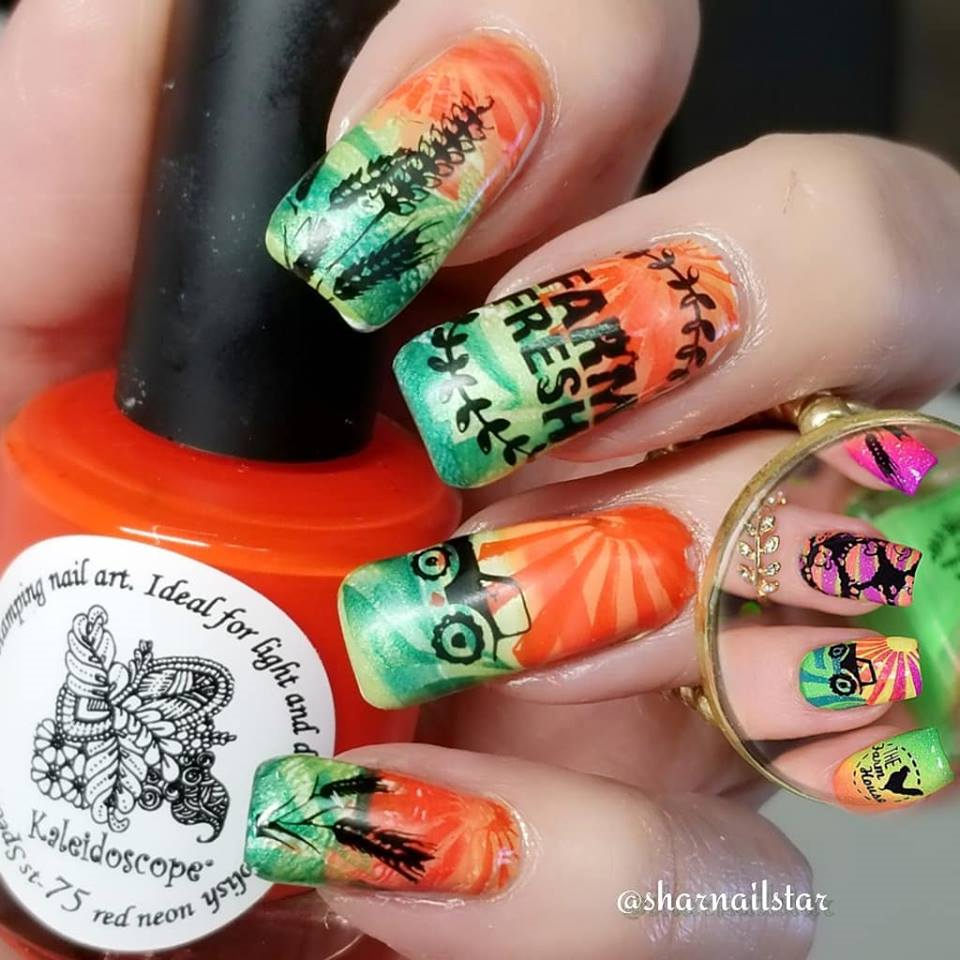 Farm Fresh Nail Stamping Plate From Uber Chic