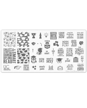 Graduation - Uber Mini Nail Stamp Plate