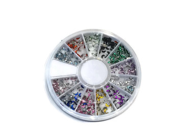 New Moon Rhinestone Carousel, 12 colors