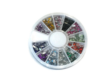 Rectangle Rhinestone Carousel, 12 colors