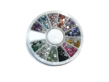 Square Rhinestone Carousel, 12 colors
