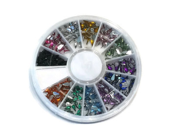 Waterdrop Rhinestone Carousel, 12 colors
