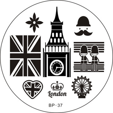 Born Pretty BP37 London nail stamping plate. Get yours without the wait, already in the USA at www.lanternandwren.com.