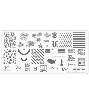 Fourth of July - Uber Mini Nail Stamp Plate