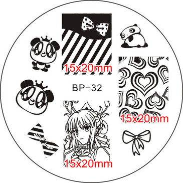 Born Pretty BP32 nail stamping plate. Get yours without the wait, already in the USA at www.lanternandwren.com.