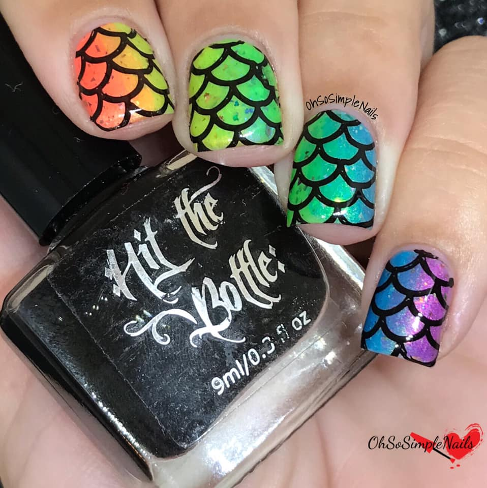 Hit the Bottle, As Black as Night nail stamping polish, in the USA on www.lanternandwren.com