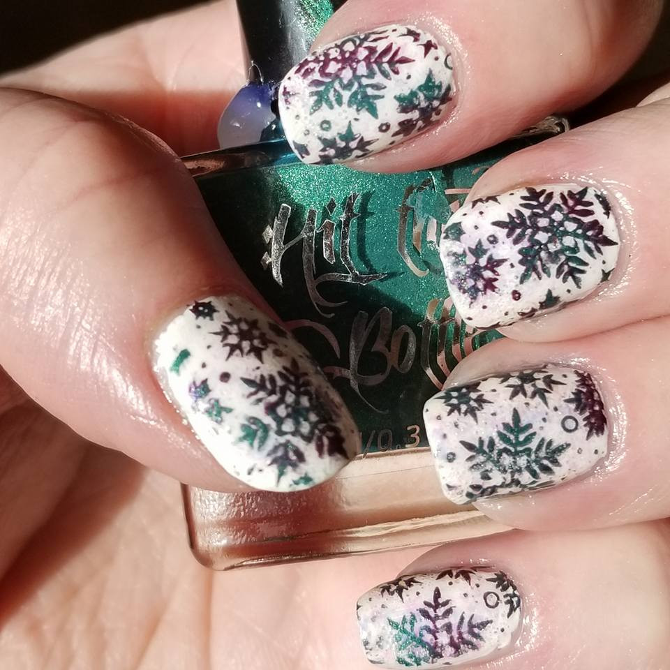 Hit the Bottle Stamping Polish Aubergenie, in the USA at www.lanternandwren.com