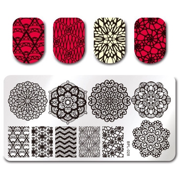 Born Pretty BP-L028 Nail Stamping Plate, ships from the USA at www.lanternandwren.com.