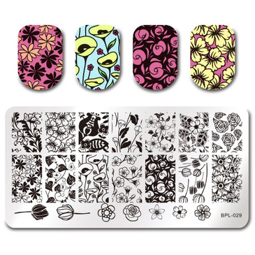 Born Pretty BP-L029 Nail Stamping Plate, ships from the USA at www.lanternandwren.com.