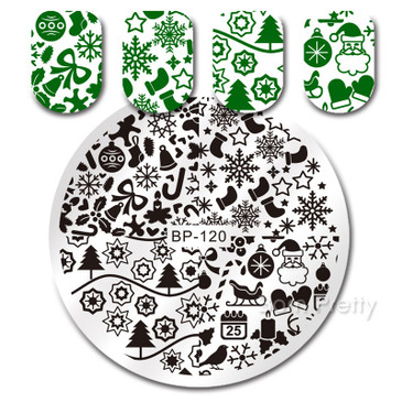 Born Pretty BP120 nail stamping plate. Get yours without the wait, already in the USA at www.lanternandwren.com.