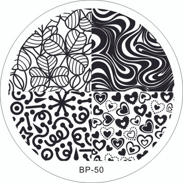 Born Pretty BP50 nail stamping plate. Get yours without the wait, already in the USA at www.lanternandwren.com.