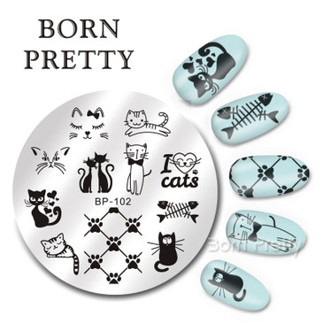 Born Pretty BP102 nail stamping plate. Get yours without the wait, already in the USA at www.lanternandwren.com.
