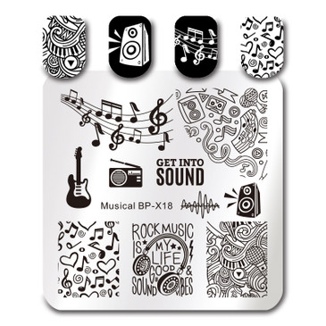 Born Pretty BP-X18 nail stamping plate. Get yours without the wait, already in the USA at www.lanternandwren.com.