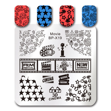 Born Pretty BP-X19 nail stamping plate. Get yours without the wait, already in the USA at www.lanternandwren.com.