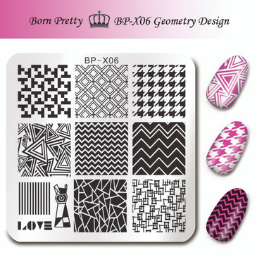 Born Pretty BP-X06 nail stamping plate. Get yours without the wait, already in the USA at www.lanternandwren.com.