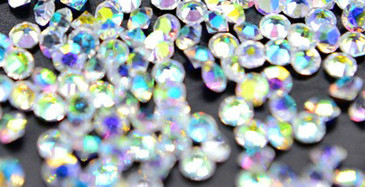 Holo 1.2mm Zircon Nail Rhinestones for nail art. Get yours in the USA at www.lanternandwren.com.