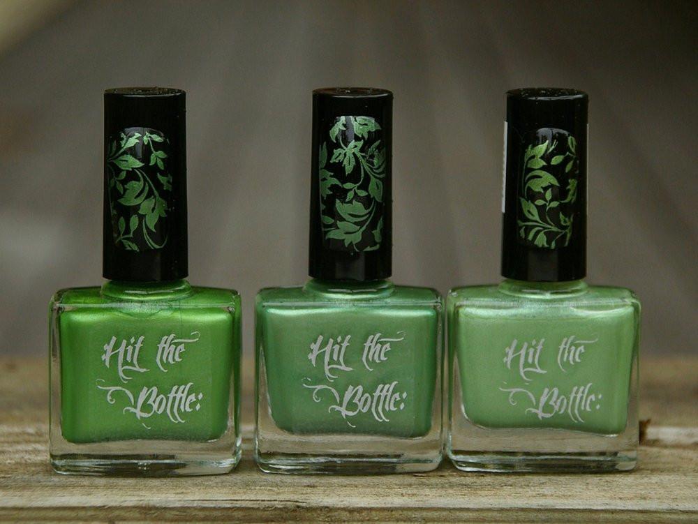 Hit the Bottle Stamping Polish Cactus Juice, in the USA at www.lanternandwren.com.