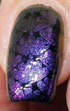 Amazing, shifting pigment for nail art stamping. Available at www.lanternandwren.com.
