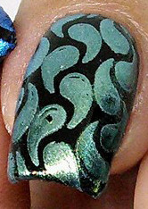 Jaunty, green interference stamping pigment. Available at www.lanternandwren.com.