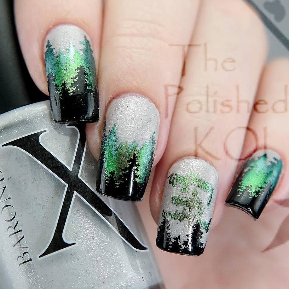 Beautiful, shifting pigment for nail art stamping. Available at www.lanternandwren.com. Mani by @thepolishedkoi.