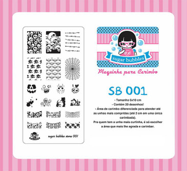 Sugar Bubbles SB001 nail stamping plate.  Available at www.lanternandwren.com.