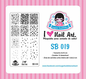 Sugar Bubbles SB019 nail stamping plate.  Available at www.lanternandwren.com.