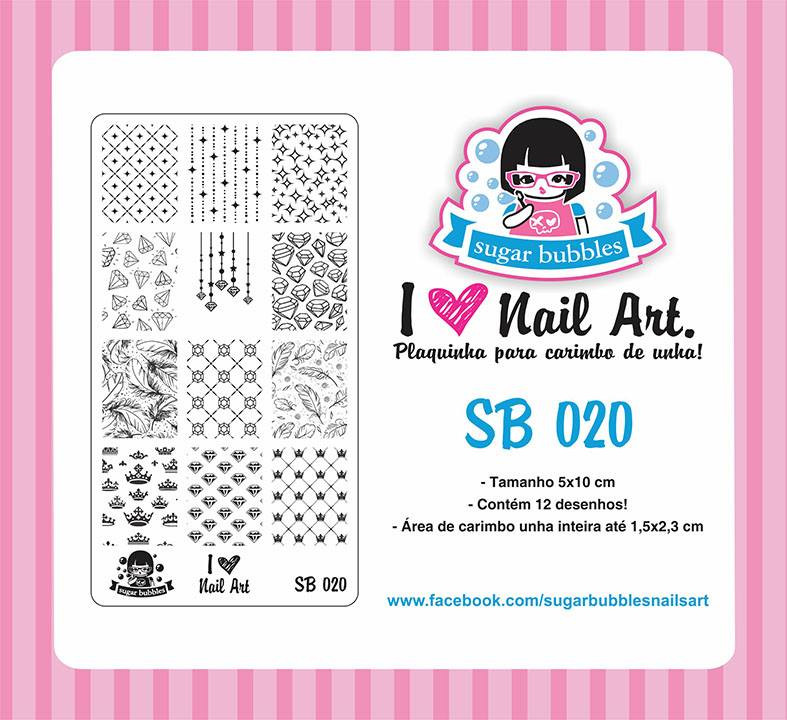 Sugar Bubbles SB020 nail stamping plate.  Available at www.lanternandwren.com.