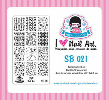 Sugar Bubbles SB021 nail stamping plate.  Available at www.lanternandwren.com.