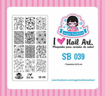 Sugar Bubbles SB039 nail stamping plate.  Available at www.lanternandwren.com.