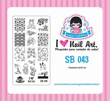 Sugar Bubbles SB043 nail stamping plate.  Available at www.lanternandwren.com.