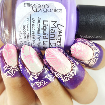 Purple Mani Defender, the best liquid latex for nail art. www.lanternandwren.com