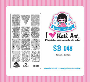 Sugar Bubbles SB048 nail stamping plate.  Available at www.lanternandwren.com.