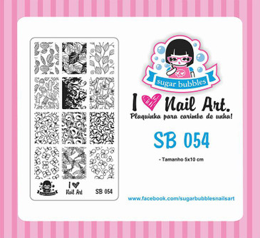 Sugar Bubbles SB054 nail stamping plate.  Available at www.lanternandwren.com.