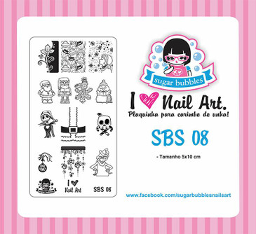 Sugar Bubbles SBS-08 nail stamping plate, available in the USA at www.lanternandwren.com.