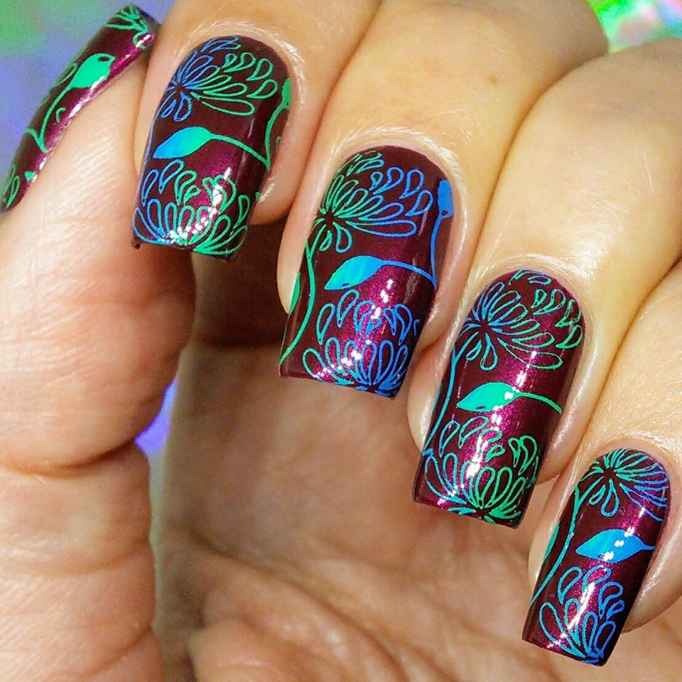 Seas the Day neon Hit the Bottle stamping polish. Get it in the USA at www.lanternandwren.com.