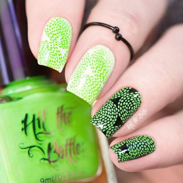 Ectoplasm Green neon green Hit the Bottle stamping polish. Get it in the USA at www.lanternandwren.com.