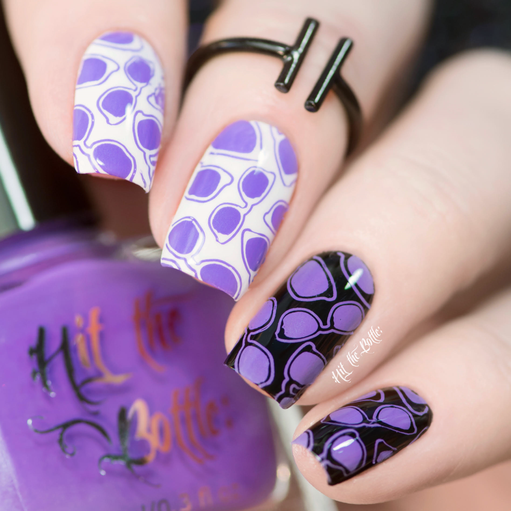 High Voltage Violet neon purple Hit the Bottle stamping polish. Get it in the USA at www.lanternandwren.com.